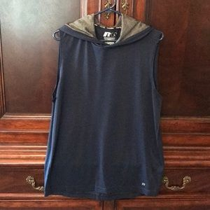 Muscle Shirt with Hoodie